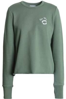 Zoe Karssen Embroidered Cotton-Terry Sweatshirt