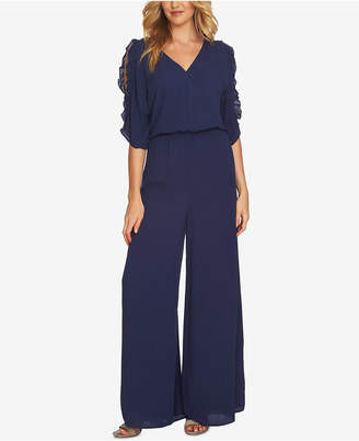 CeCe Ruffled Wide-Leg Jumpsuit