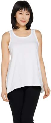 Peace Love World Pima Cotton Asymmetric Hem Knit Tank