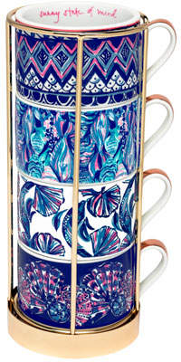 Lilly Pulitzer Assorted Cappuccino Mugs, Set of 4
