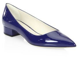 Giorgio Armani Patent Leather Pumps $625 thestylecure.com