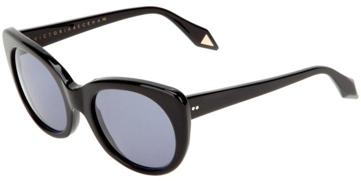 Victoria Beckham Eyewear modern black cat sunglasses