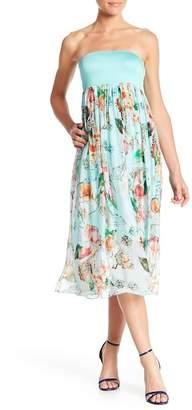 Luma Floral Print Silk Blend Long Skirt Dress
