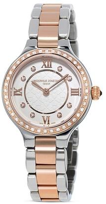 Frederique Constant Classics Delight Watch with Diamonds, 26mm $2,395 thestylecure.com