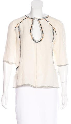 Isabel Marant Isabel Marant Embroidered Silk Top