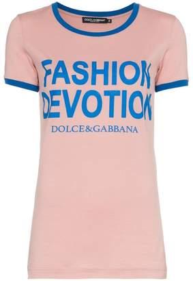 Dolce & Gabbana Fashion Devotion print cotton T-shirt