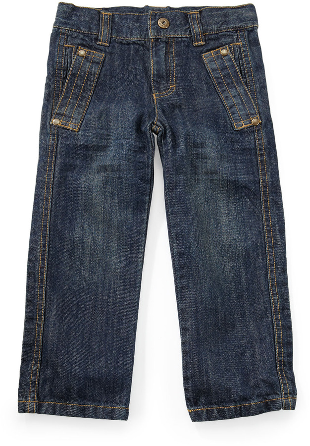Petit Lem Denim Jeans, Blue, 2T-4T