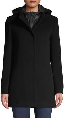 Cinzia Rocca Wool-Blend Hooded Jacket