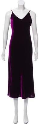 LoveShackFancy Sleeveless Velvet Dress