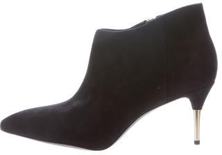 Brian Atwood Suede Mcalester Ankle Boots $130 thestylecure.com