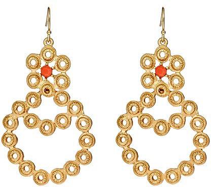 Blu Bijoux Coral Bubbles Drop Earrings