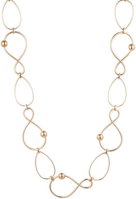 Trina Turk Golden Wave Twisted Link Necklace