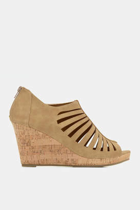 Ardene Cut Out Cork Heel Sandals