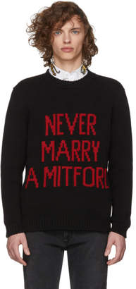 Gucci Black Never Marry a Mitford Sweater