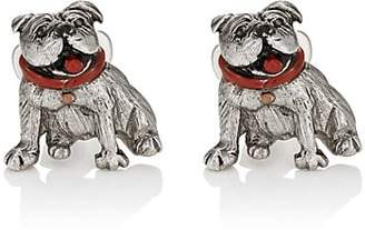 Barneys New York MEN'S BULLDOG CUFFLINKS - SILVER