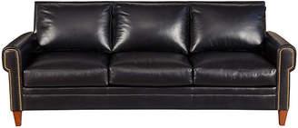 "One Kings Lane Alfie 87"" Leather Sofa"