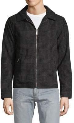 Karl Lagerfeld Paris Classic Plaid Jacket