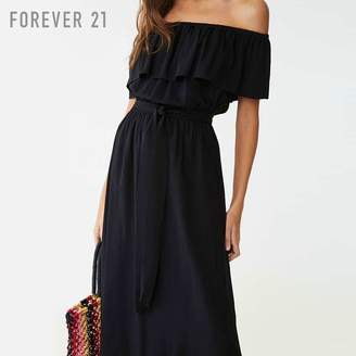 Forever 21 (フォーエバー 21) - Forever 21 オフショルダーマキシワンピース