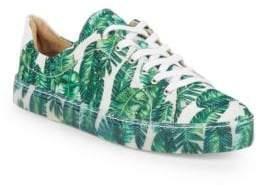 Schutz Chayton Palm Print Sneakers
