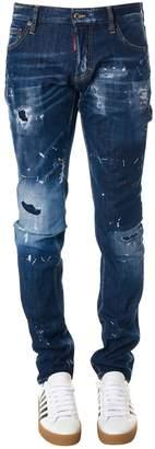 DSQUARED2 Blue Slim Jeans In Denim