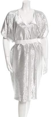 Maison Rabih Kayrouz Metallic Oversize Dress w/ Tags