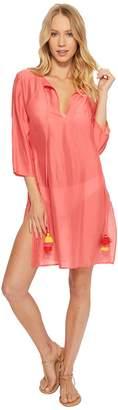 Echo Solid Tunic Cover-Up Women's Swimwear