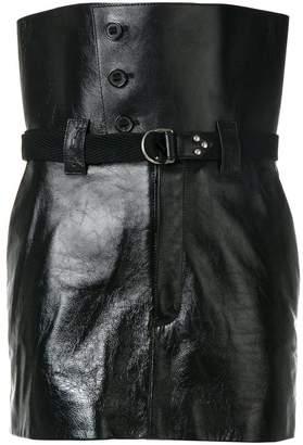 Saint Laurent high-waisted mini skirt