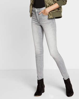 Express Gray High Waisted Stretch+ Performance Jean Leggings