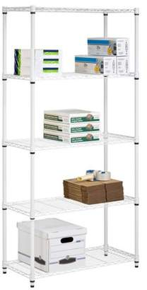 Honey-Can-Do 5-Tier Heavy Duty Adjustable Shelving Unit, White