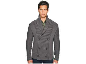 Vince Solid Double-Breasted Cardigan Coat Men's Sweater