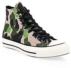 9df19a9e3aa5c Converse Men's Archive Print Chuck 70 High-Top Camo Canvas Sneakers