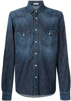Tomas Maier denim western shirt