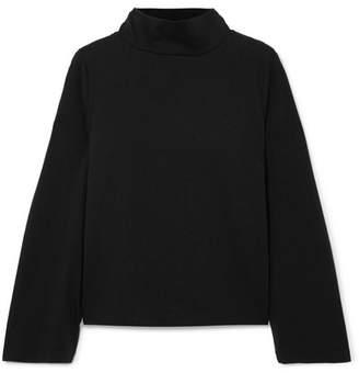 Madewell Oliver Cotton-jersey Turtleneck Top - Black