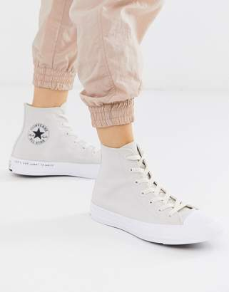 Converse Cream Chuck Taylor Hi All Star Renew Recycled Sneakers