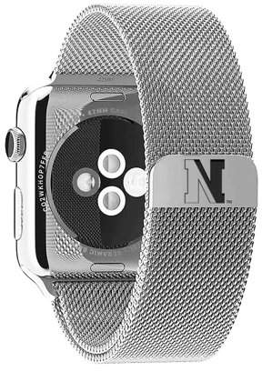 Affinity Bands Northeastern Huskies Stainless Steel Band for Apple Watch - 38mm
