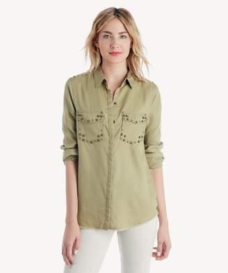 Sole Society Tencel Stud Detail Shirt