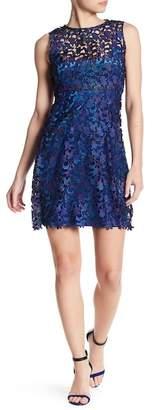 T Tahari Wortha Lace Knit Dress