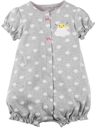 Carter's Baby Girl Cloud Pattern Snap-Up Romper