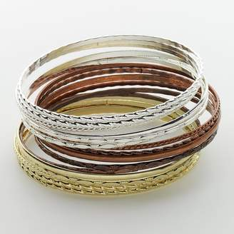 So Mudd Tri-Tone Bangle Bracelet Set