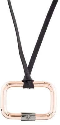 Reed Krakoff Oversize Toggle Rectangle Pendant Necklace