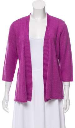Eileen Fisher Open-Front Linen Cardigan