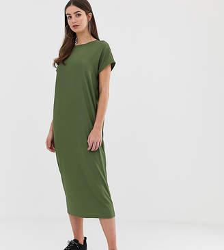 Asos Tall DESIGN Tall rib oversized midi t-shirt dress