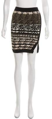 Ronny Kobo Patterned Mini Skirt
