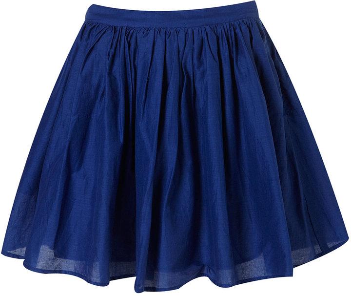 Topshop Bright Blue Fifties Full Skirt