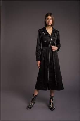 Sonia Rykiel Embossed Satin Trench Dress