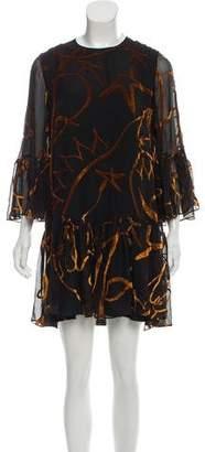 Roksanda Velvet-Accented Mini Dress w/ Tags