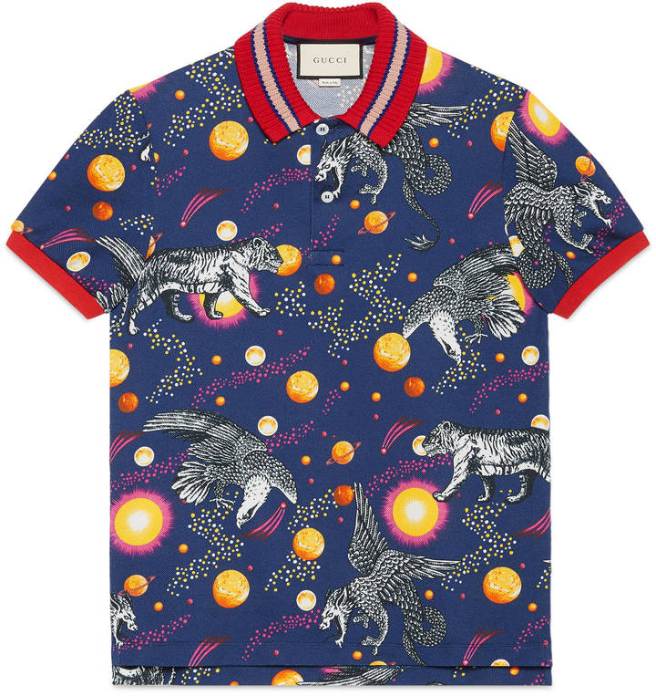 Space Animals print polo