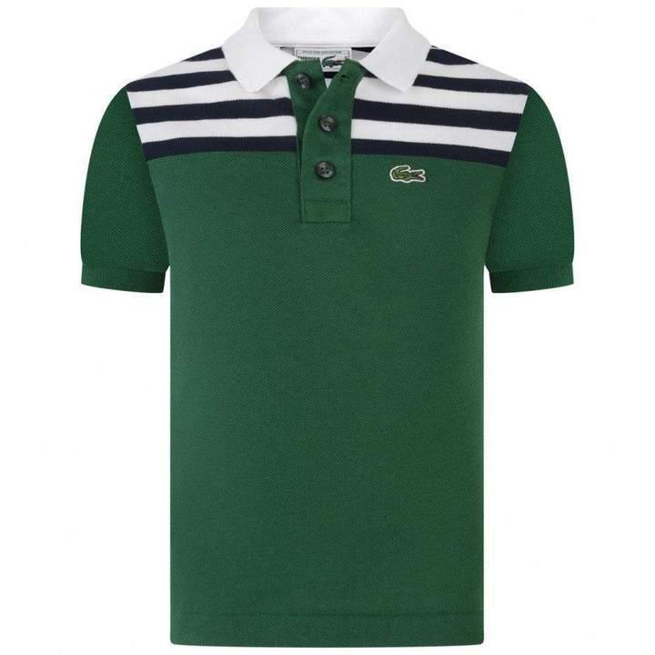 LacosteBoys Green Pique Polo Top