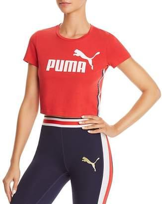 Puma Cropped Logo Tee
