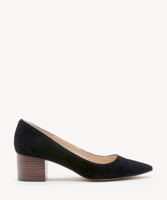 Sole Society Women's Andorra Block Heels Pumps Black Size 5 Haircalf From